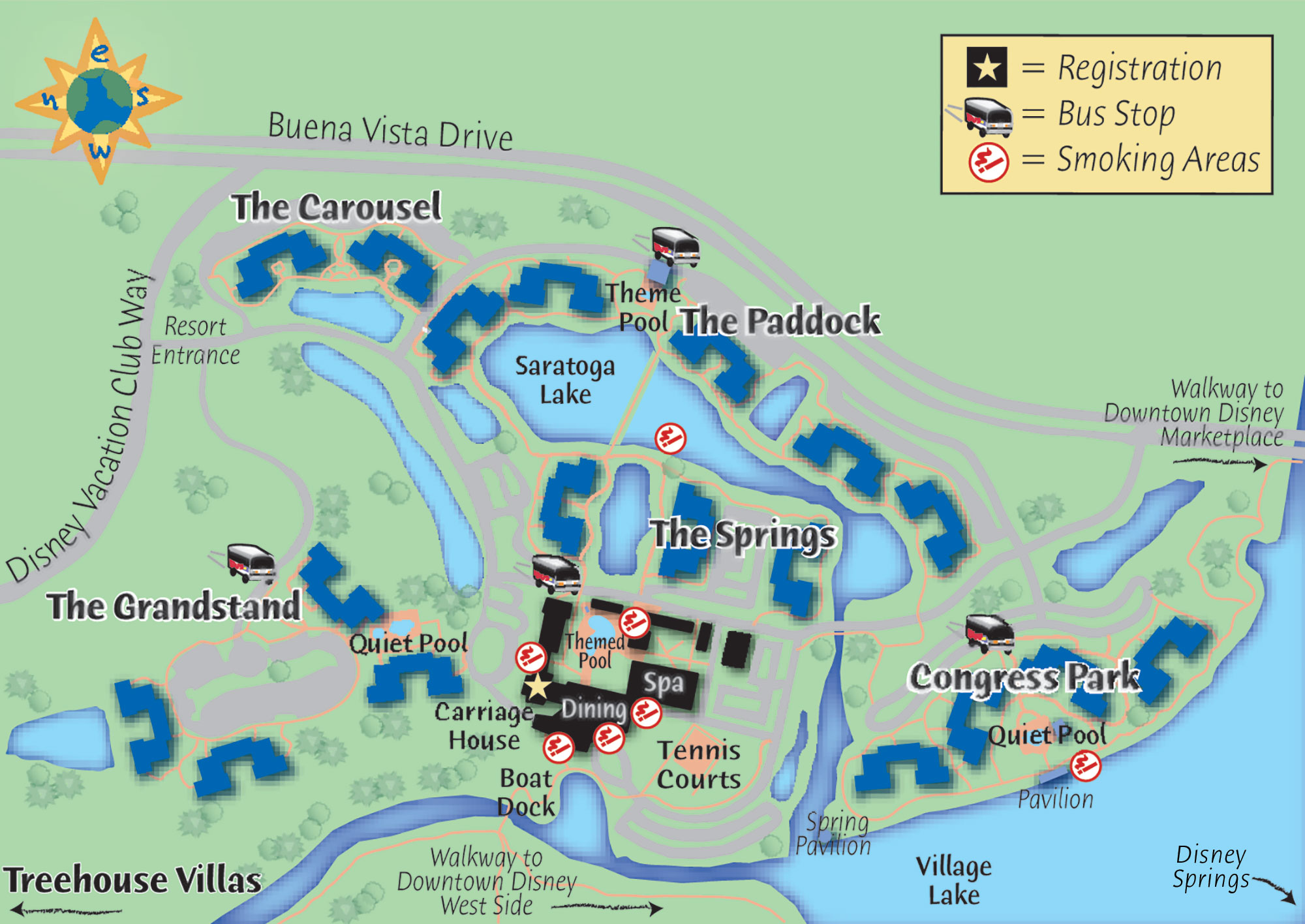 map of disney's saratoga springs resort  spa click to see at a largersize. passporter's walt disney world guide always uptodate