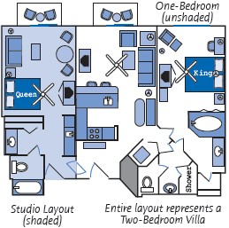 Beach Club Villa Room Layout