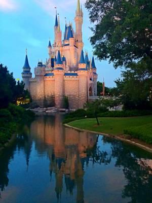 Photo illustrating Cinderella Castle Reflection