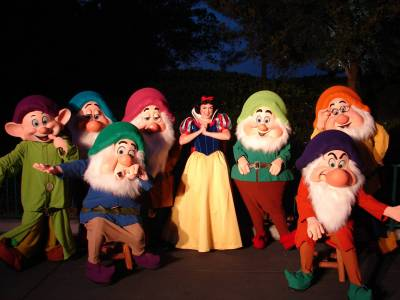Photo illustrating <font size=1>Snow White and Her Dwarfs