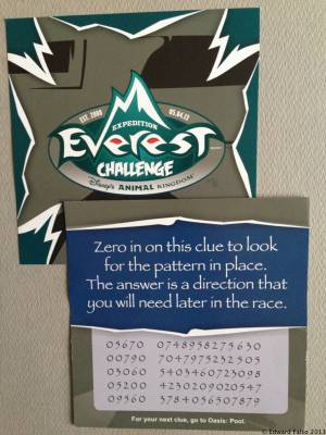 Photo illustrating Expedition Everest 2013-First Clue