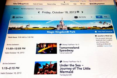 Tips for Booking Your FastPass Plus Online