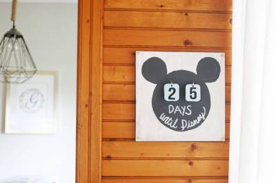 DIY Disney Vacation Countdown Calendar