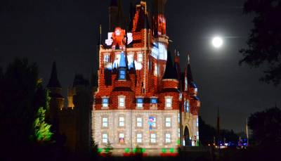 Photo illustrating <font size=1>&quot;Celebrate the Magic&quot; castle projection show
