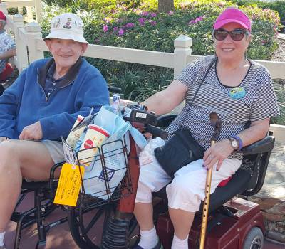 Walt Disney World with wheelchair & scooter