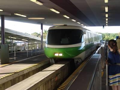 Photo illustrating <font size=1>Magic Kingdom - monorail in station