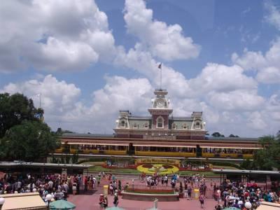 Photo illustrating <font size=1>Magic Kingdom - entrance