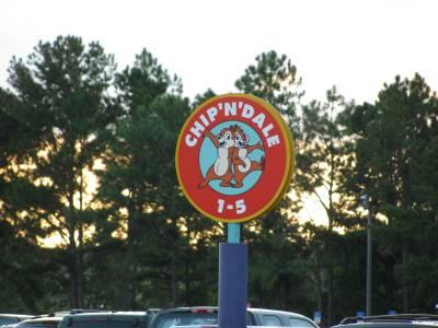 Photo illustrating <font size=1>Magic Kingdom - Parking Section Signs