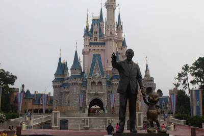 Photo illustrating <font size=1>Magic Kingdom Partners Statue