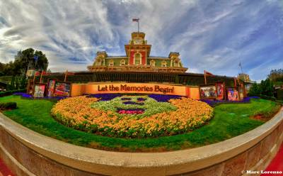 Photo illustrating <font size=1>Let The Memories Begin - Entrance to Magic Kingdom