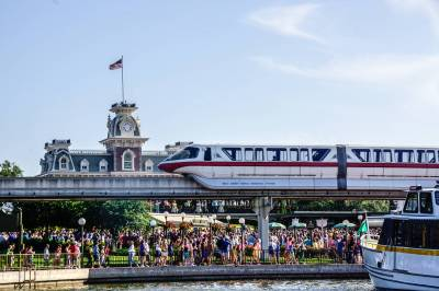 Photo illustrating Monorail at Magic Kingdom 02