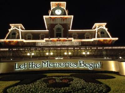 Photo illustrating Magic Kingdom - Entrance