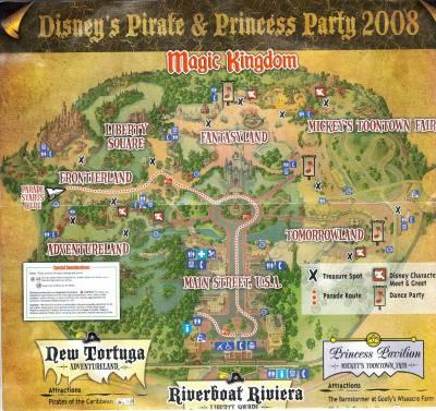 Photo illustrating <font size=1>Magic Kingdom - Pirate & Princess Party Map