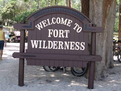 Photo illustrating Fort Wilderness - welcome sign