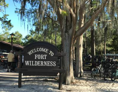 Photo illustrating Fort Wilderness sign