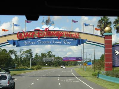 Walt Disney World Entrance Sign photo
