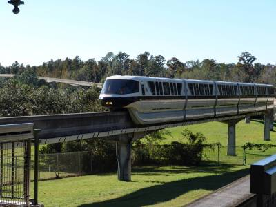 Monorail out on the tracks