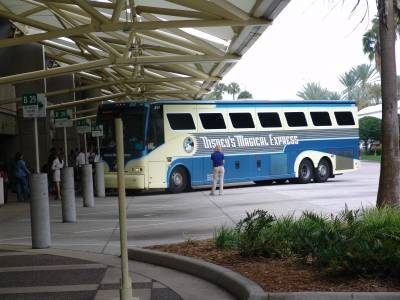 Orlando International Airport - Disney's Magical Express bus photo