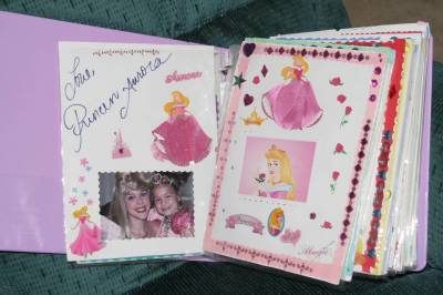 Autograph Book featuring Sleeping Beauty