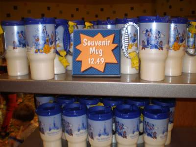 Photo illustrating <font size=1>Disney souvenir mug free refills