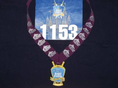Bib and Medal from Royal Family 5K Race