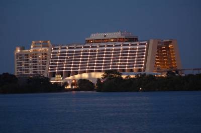 Photo illustrating <font size=1>Contemporary Resort at Sunset