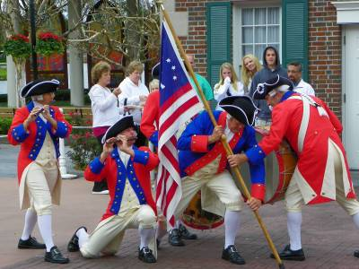 Photo illustrating <font size=1>America Pavilion Fife &amp; Drum Corps