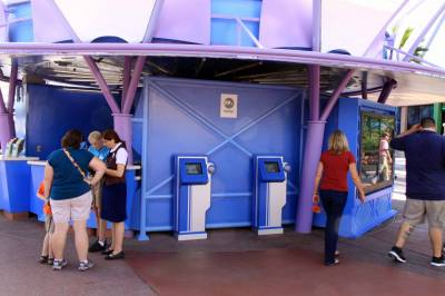Photo illustrating <font size=1>FastPass+ Kiosks at Epcot
