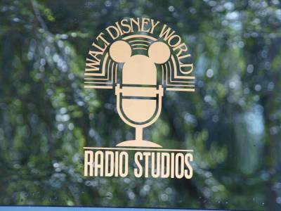 Photo illustrating WDW Radio Studio Logo