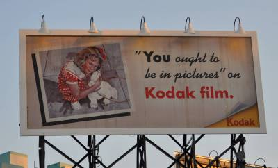 Photo illustrating Kodak Billboard