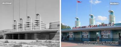 Historical photomerges of Disney's Hollywood Studios photo