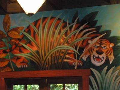 Photo illustrating <font size=1>Wall mural at Pizzafari