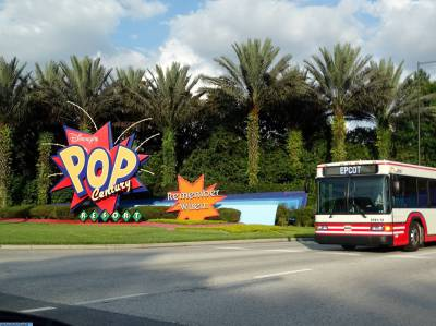 Arriving at Pop Century