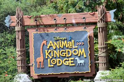 Animal Kingdom Lodge - Sign photo