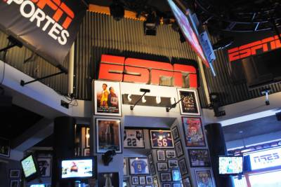 Inside the ESPN Club.