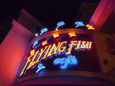 Photo illustrating <font size=1>BoardWalk - Flying Fish Cafe sign