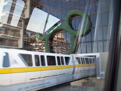 Photo illustrating <font size=1>Contemporary - Monorail entrance