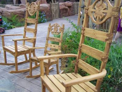 Photo illustrating Rocking chairs at the fire pit and AKV