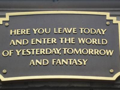 Photo illustrating Disneyland Plaque