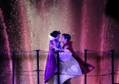 Photo illustrating Fantasmic Snow White and Prince Charming
