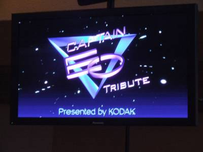 Photo illustrating Captain EO Tribute logo