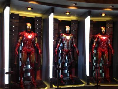 Photo illustrating Iron Man Hall of Armor