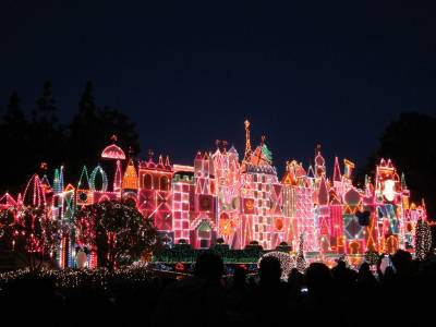 it's a small world at Christmas - Disneyland photo
