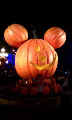 Giant Jack-o-Lantern at the end of Main Street USA photo