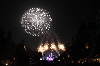 Photo illustrating <font size=1>Disneyland - Magical (summer fireworks show)