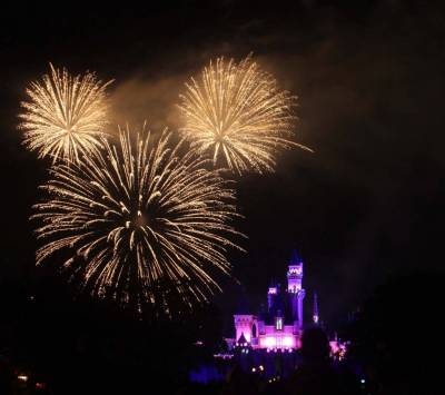 Photo illustrating <font size=1>Disneyland Fireworks