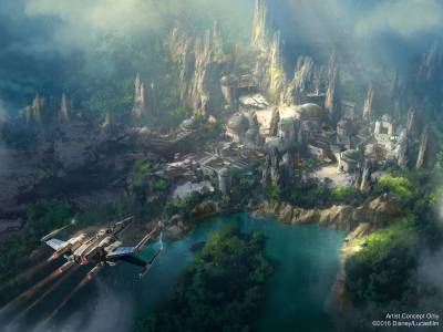 Photo illustrating Star Wars Land Concept Art