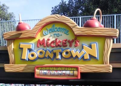 Disneyland--Toontown sign photo