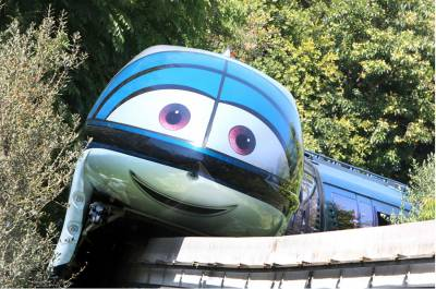 Photo illustrating Mandy the Monorail at Disneyland