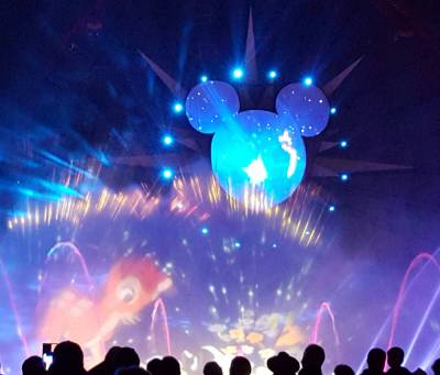 Photo illustrating <font size=1>Disneys California Adventure--World of Color Celebrate